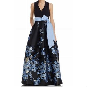 Eliza J belted floral ball gown 12